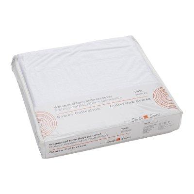 twin mattress pad. 100171 White Waterproof Twin Mattress Pad - Somea