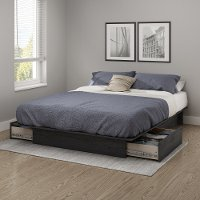 10446 Gray Oak Full/Queen Platform Bed - Step One