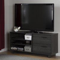 10374 Gray Oak TV Stand with Drawers for TVs up to 55 Inch - Fynn