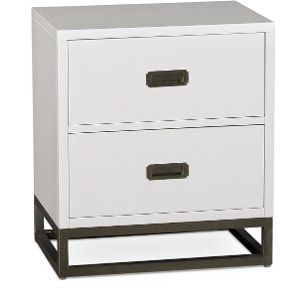 ... 7119 771/NIGHTSTAND Clearance White Contemporary Nightstand   Tinley  Park