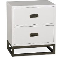7119-771/NIGHTSTAND White Contemporary Nightstand - Tinley Park