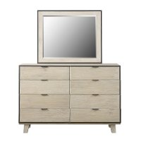 Contemporary Pearl White Dresser - Synchrony