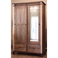 Pine Rustic Armoire Antique Rc Willey Furniture Store