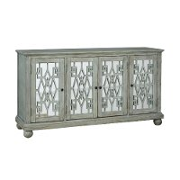 Weathered Gray Four Door Console - Weathered