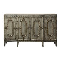 Distressed Silver Bar Cabinet