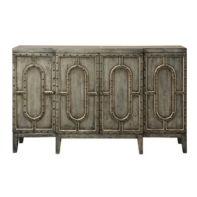 Distressed Silver Bar Cabinet   RC Willey Furniture Store