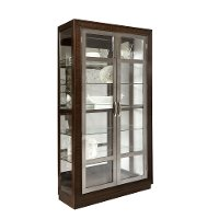 Mahogany and Nickel Curio Cabinet