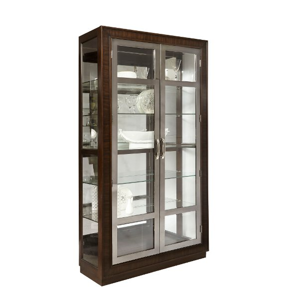 ... Mahogany and Nickel Curio Cabinet  sc 1 st  RC Willey & Get your curio or china cabinet at RC Willey