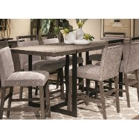 Gray and Metal Counter Height Dining Table - Polo