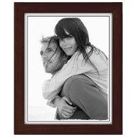 8X10 Espresso Linear Wood Picture Frame