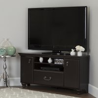 10380 Dark Mahogany Corner TV Stand for TVs up to 55 Inch - Noble