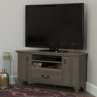 10381 Gray Maple Corner TV Stand for TVs up to 55 Inch - Noble