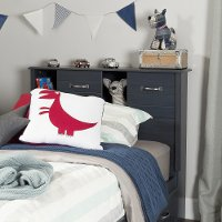 10360 Blueberry Twin Bookcase Headboard - Ulysses