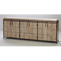 Wood and Metal 6 Door Sideboard