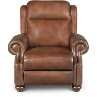 Coffee Bean Brown Leather Power Recliner - Hancock