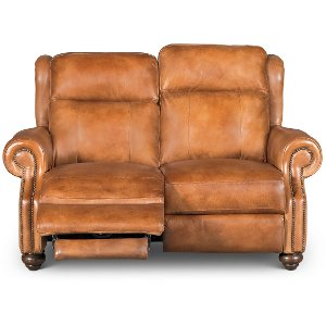 ... Whiskey Light Brown Leather Power Reclining Loveseat - Hancock  sc 1 st  RC Willey & RC Willey has reclining loveseats for your living room islam-shia.org