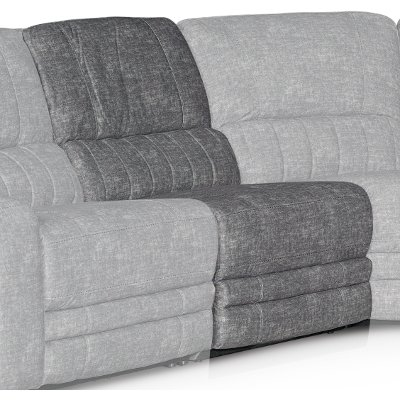 Gray Armless Power Recliner - Rock Quarry