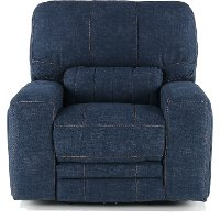 Indigo Blue Power Recliner - Rock Quarry