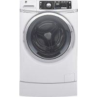 GFW490RSKWW GE 4.9 cu. ft. RightHeight Front Load Washer with Steam - White