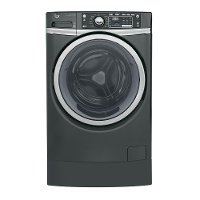 GFW490RPKDG GE Front Load Washer with Steam - 4.9 cu. ft.  Gray