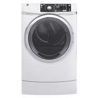 GFD49ERSKWW GE 8.3 cu. ft. Capacity Front Load Front Load Dryer with Steam - White
