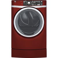 GFD49GRPKRR GE 8.3 cu. ft. Capacity RightHeight Design Front Load Gas Dryer with Steam - Red