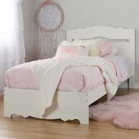 10075 White Wash Twin Bed Set (39 Inch) - Lily Rose