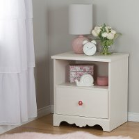 10076 White Wash Drawer Nightstand - Lily Rose