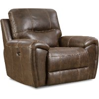 Chocolate Brown Manual Glider Recliner - Desert