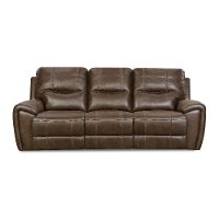 Chocolate Brown Power Reclining Sofa - Desert