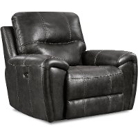 Eclipse Black Manual Glider Recliner - Desert