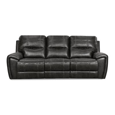 Eclipse Black Manual Reclining Sofa - Desert
