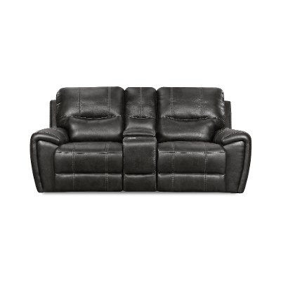 Eclipse Black Manual Reclining Loveseat - Desert