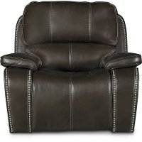 Midnight Brown Power Recliner - Jamestown
