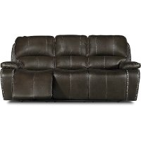 Midnight Brown Manual Reclining Sofa - Jamestown