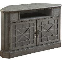 50 Inch Textured Gray Corner TV Stand