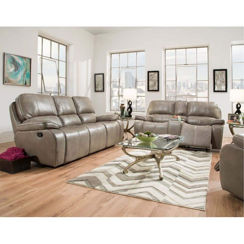 Leather Reclining Sofa Living Room Set Baci Living Room