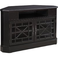 50 Inch Textured Black Corner TV Stand
