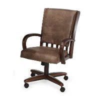 PALANCE/CASTERCHAIR Walnut Caster Dining Chair - Palance Collection