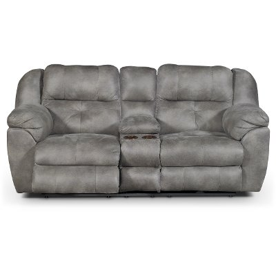 Steel Gray Power Reclining Loveseat - Ferrington