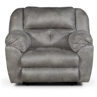 Steel Gray Power Recliner - Ferrington