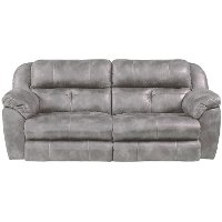 Steel Gray Power Reclining Living Room Set - Ferrington