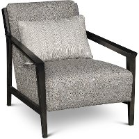 9080-0 Gray and Brown Accent Chair - Pacey
