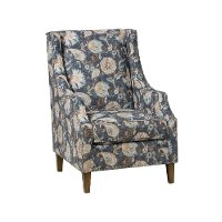 Indigo Blue Traditional Accent Chair - Westbrook