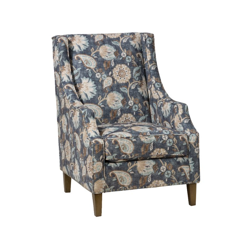 Surprising Indigo Blue Traditional Accent Chair Westbrook Gmtry Best Dining Table And Chair Ideas Images Gmtryco