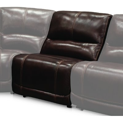 Burgundy Armless Power Recliner with Power Headrest