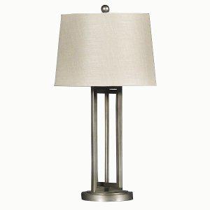Dark Silver Metal Table Lamp