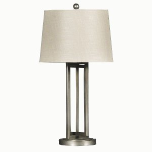 Exceptional ... Dark Silver Metal Table Lamp ...