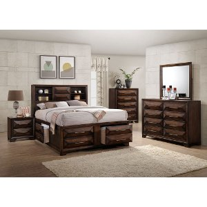 ... Clearance Contemporary Brown 6 Piece California King Bedroom Set    Anthem