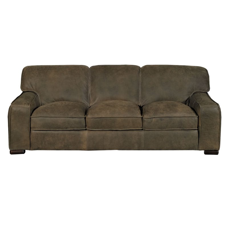 Superieur Casual Classic Brown Leather Sofa   Modena